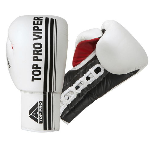 Top Pro Viper Pro Laced Boxing Gloves - White